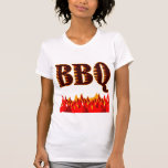 Red Flames BBQ Saying