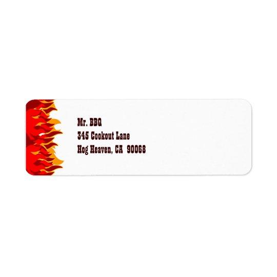 Red Flames Custom Return Address Labels