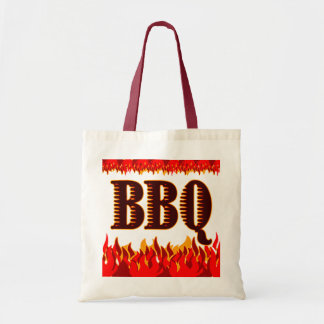 Red Flames Funny BBQ Saying