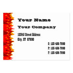 Red Flames Western Business Card Template