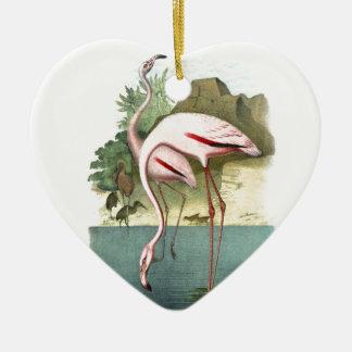 Red Flamingo Christmas Ornament