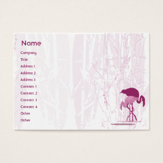 Red Flamingo - Chubby Business Card
