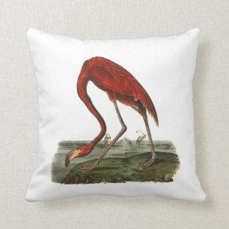 Red Flamingo Illustration Cushion