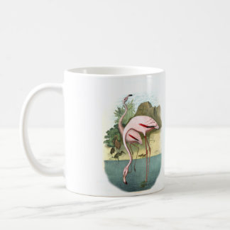 F Is For Flamingo Mug Red Flamingo Basic White Mug