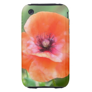 Red Flanders Poppy Tough iPhone 3 Cases