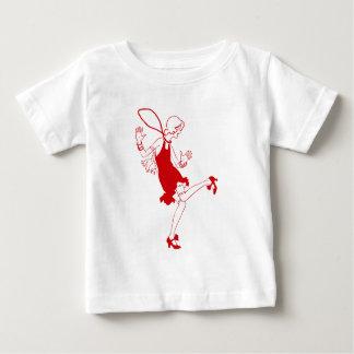 red flapper girl t-shirt