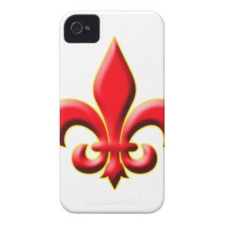 Red Fleur De Leis iPhone 4 Covers