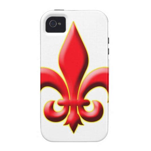 Red Fleur De Leis iPhone 4 Case