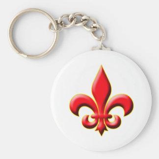 Red Fleur De Leis Key Chain