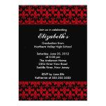 Red Fleur-de-lis Graduation Invitation