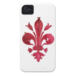 RED FLEUR DE LISE iPhone 4 CASE