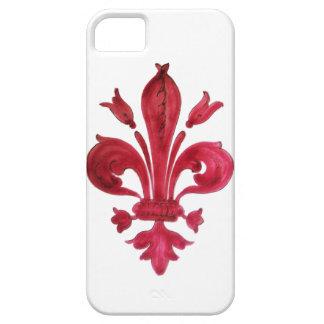 RED FLEUR DE LISE iPhone 5 CASE
