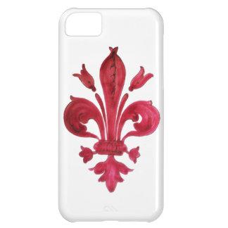 RED FLEUR DE LISE iPhone 5C CASE