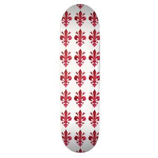 RED FLEUR DE LISE CUSTOM SKATE BOARD