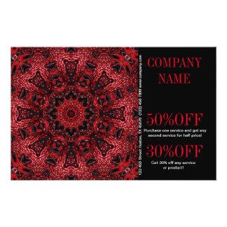 red floral beauty SPA fashion boutique bohemian Flyer Design