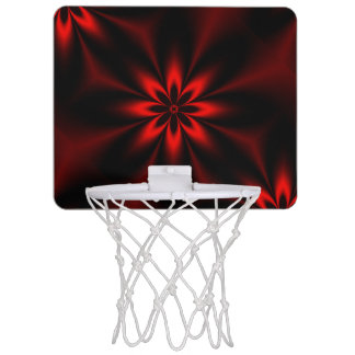 Red Floral Burst Mini Basketball Hoop
