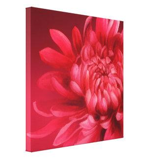 Red floral canvas original fine-art print canvas prints