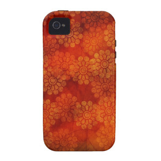 Red floral design iPhone Case Case-Mate iPhone 4 Covers