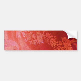 Red Floral Elegance Bumper Sticker - Customizable