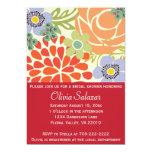 Red Floral Garden Bridal Shower Invitation