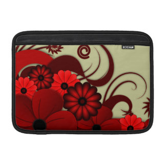 Red Floral Hibiscus Macbook Air Sleeve 11 Inch - H