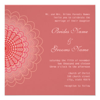 Red Floral Lace Personalized Invites