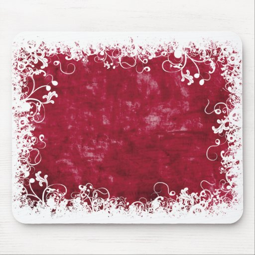 Red Floral mousepad