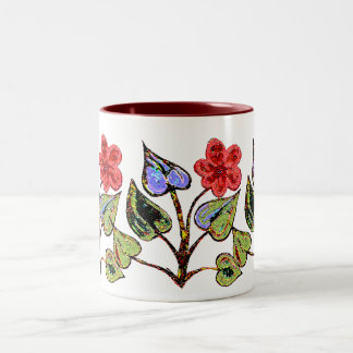 Red Floral Mugs