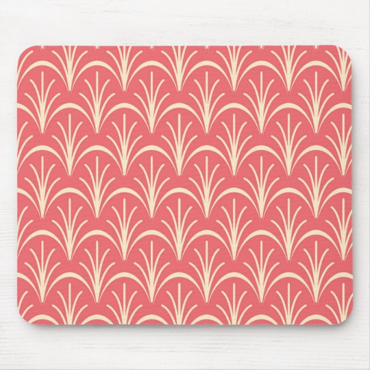 Red Floral Pattern by storeman Mouse Mat