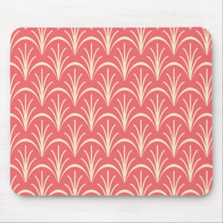 Red Floral Pattern by storeman Mouse Pad