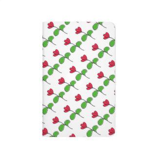 Red Floral Pocket Journal
