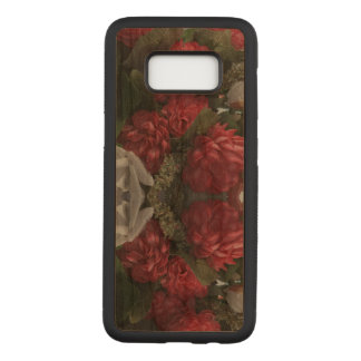 Red Floral Samsung Galaxy S8 Slim Wood Case