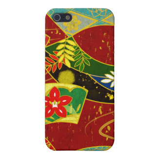 Red Floral Swirl IPhone Case Case For The iPhone 5