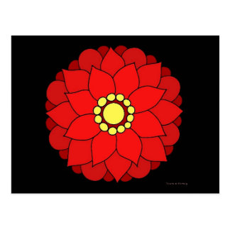 Red Floral V2 Postcard