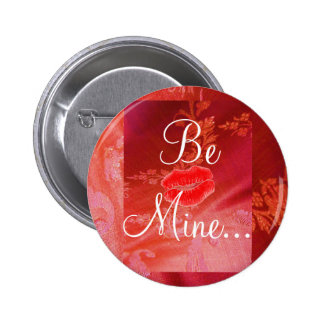 Red Floral Valentine II Button - Customizable Buttons