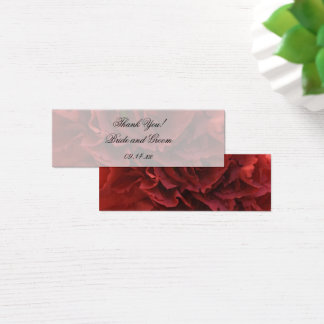 Red Floral Wedding Favor Tags