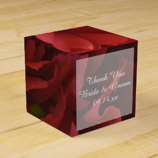 Red Floral Wedding Party Favour Boxes
