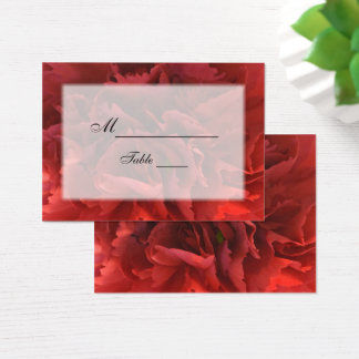 Red Floral Wedding Place Card