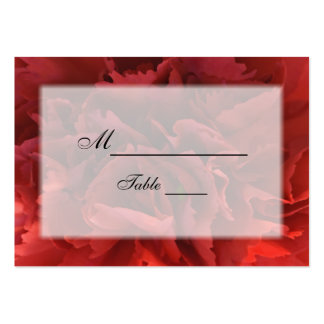 Red Floral Wedding Place Card Business Card