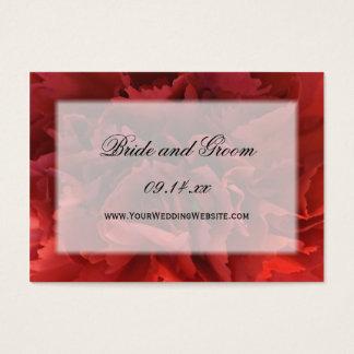 Red Floral Wedding Website