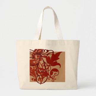 Red Flourish Bag