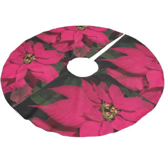 Red Flower 2016 Brushed Polyester Tree Skirt