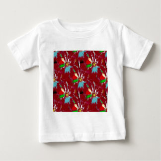 Red Flower Abstract Baby T-Shirt