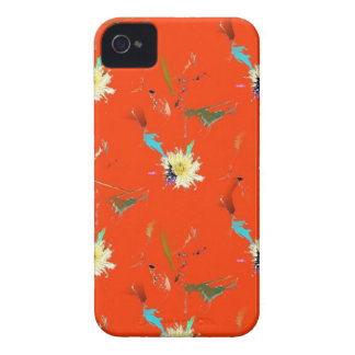 Red Flower Abstract Case-Mate iPhone 4 Case