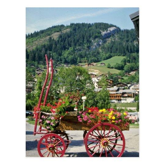 Red Flower cart in summer, Le Grand Bornard, Franc Postcard