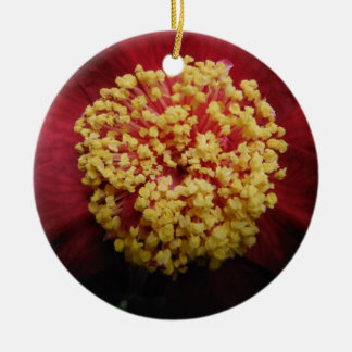 red flower christmas ornament