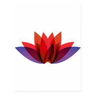 Red Flower Design Postcard