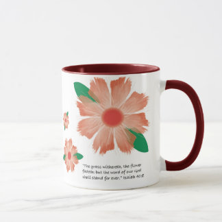 Red Flower Fades -- Variation 1 Mug