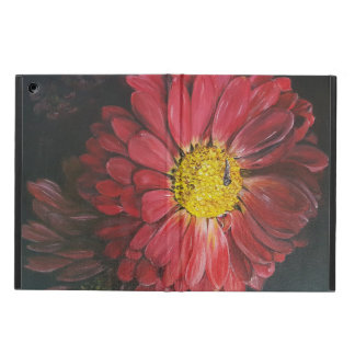 Red flower iPad air case
