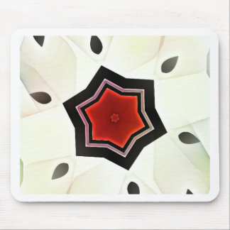 Red flower - Japan style Mouse Mat